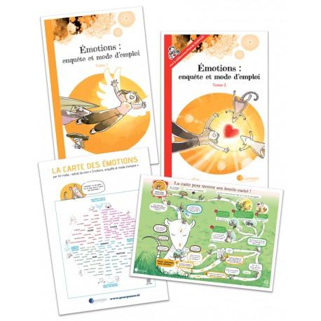 Emotions : enquête et mode d'emploi - Tome 1 + Tome 2 + Carte des émotions + Carte du besoin caché